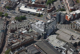 Preston aerial photograph of Lowthian House and Limehouse Orchard Street and Frairgate