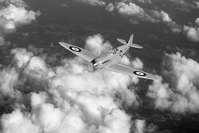 Supermarine Spitfire prototype K5054 black and white version