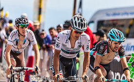 The Cyclist Michal Kwiatkowski Wearing the White Jersey