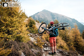 Mountain biking at Lago di Como, Italy.