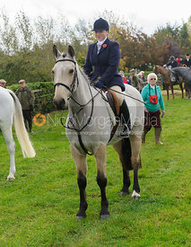 Lucinda Winngton at the meet - Quorn at Barrowcliffe 1-11-13