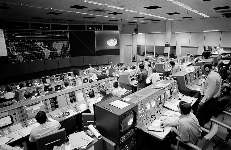 23 Dec. 1968) --- Overall view of the Mission Operations Control Room in the Mission Control Center, Building 30