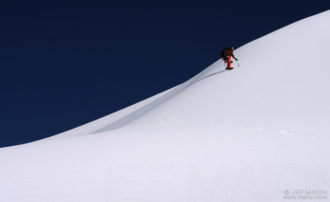 Climber on a snow slope