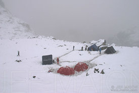 Base Camp under the snow