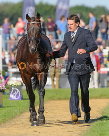 Kai Ruder and LEPRINCE DES BOIS - The final trot up, Burghley Horse Trials 2013.