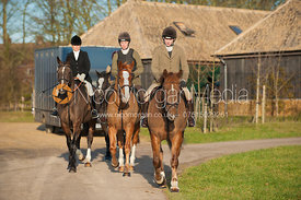 Members of the Cottesmore Hunt at the meet at Burrough House