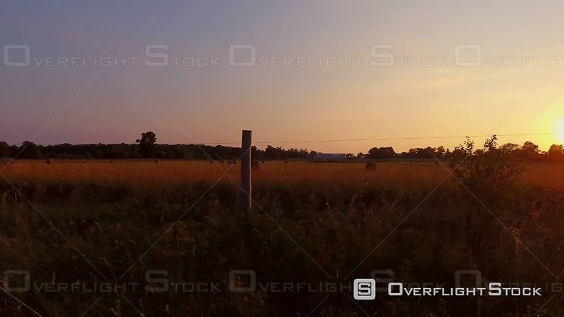 Sunrise Over Rural Farm Country Ridgeway Ontario