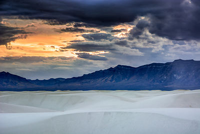 White Sands Storm Clouds