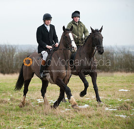 The Cottesmore Hunt at Langham 14/2/12