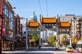 Chinatown entrance gate, Vancouver, British Columbia, Canada