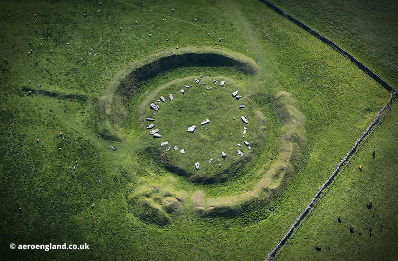 Arbor Low Neolithic henge  aerial photograph
