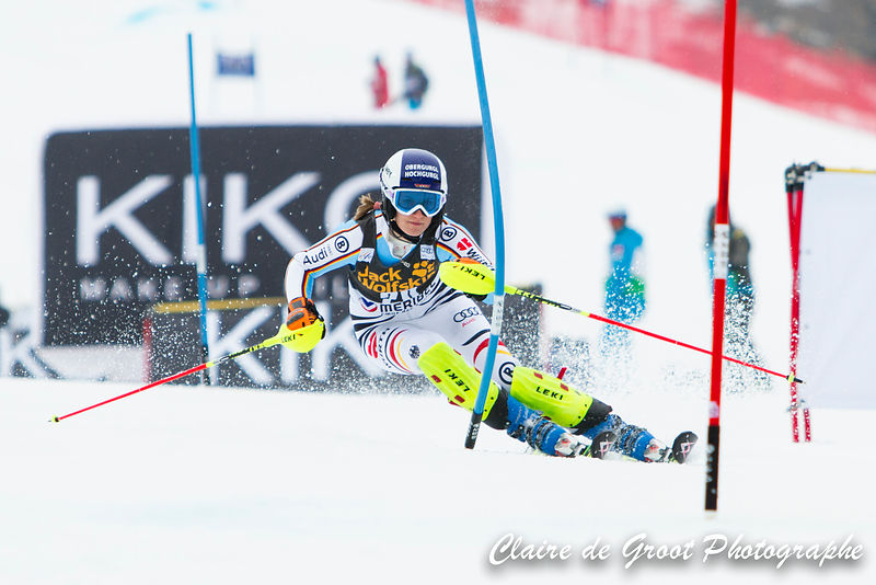 German Lena Duerr shows us how it's done in the Slalom Finals.