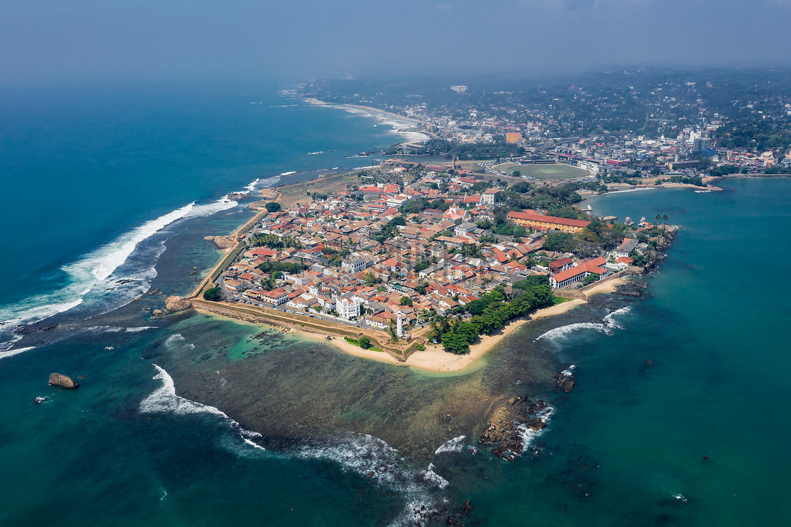 Aerial View of the Historical Center of Galle