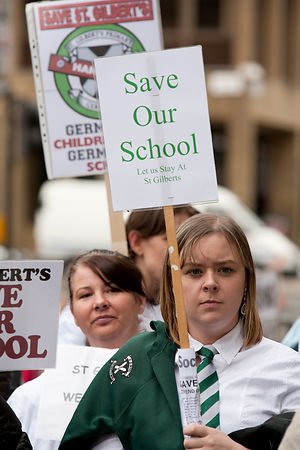 School closure demonstration