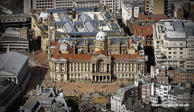 aerial photograph of Birmingham Council House , West Midlands England UK