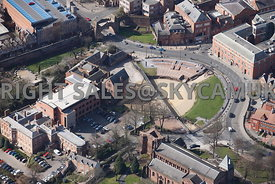 Chester  aerial view of the Roman Amphitheatre
