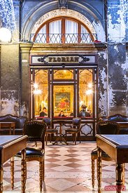 Caffe Florian, old traditional bar in Venice