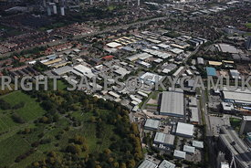 Manchester aerial photograph of Weaste and large industrial Estate