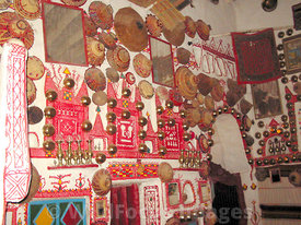 LIBYA: Ghadames - Old city - Berber Living Room