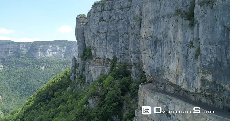 Combe-Laval of Vercors, viewed from drone