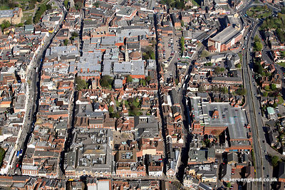 aerial photograph of Colchester Essex England UK
