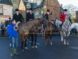 Mounted followers at the meet in Uppingham