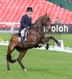 Denis Mesples and OREGON DE LA VIGNE - Dressage - Mitsubishi Motors Badminton Horse Trials 2013.