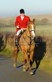 Chris Edwards on Leesthorpe Road - The Cottesmore Hunt at Pickwell Manor 28/12