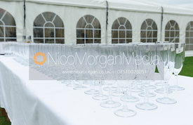 Glasses ready for drinks - Belvoir Hunt Unmissaball 2013