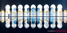Islamic architecture of Abu Dhabi Grand Mosque, UAE