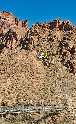 Helicopter Over Hikers Bridge- Phantom Ranch