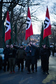 On 6/12/2018 a march 'Towards Freedom!' was held in Helsinki, Finland. Around 300 people took part in the march, led by members of the banned Nordic Resistance Movement. Three Nazi Germany flags were carried at the front.