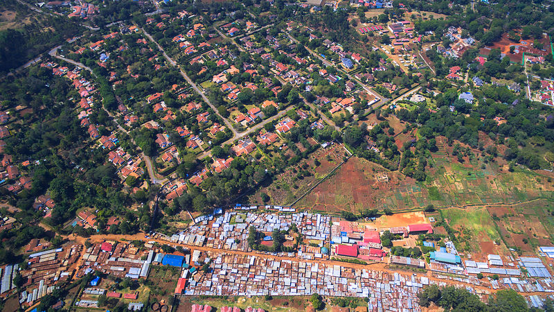 Suburbs and Shanty Town of Nairbi Kenya