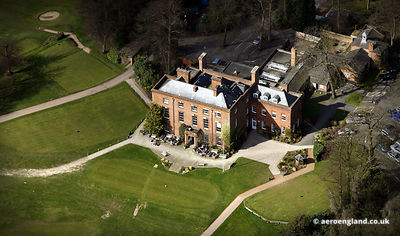 aerial photograph of  Edgbaston Hall Edgbaston Birmingahm England UK