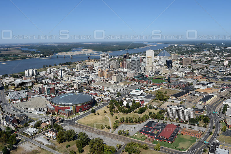 Memphis Tennessee Skyline from the Southeast.