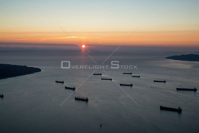 Freighters on English Bay Vancouver BC