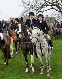Hilary and Lucy Butler - The Cottesmore Hunt's Boxing Day meet 2013.