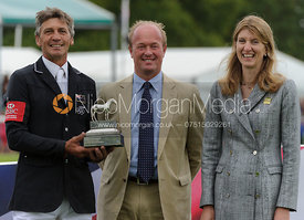 Andrew Nicholson, Jeremy Hicks (Land Rover) and Miranda Rock - Burghley Horse Trials 2013.