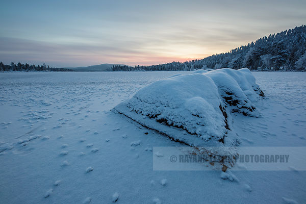 The beginning of winter at Ukonjärvi lake