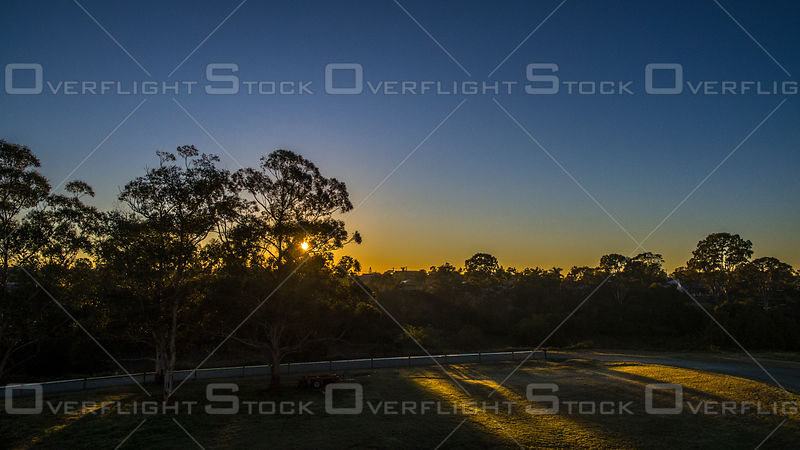 Sunrise at a Horse Race Track, Kingston QLD Australia