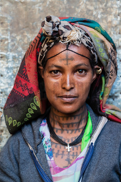 Portrait of a Woman from the Amhara Region