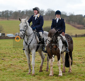 Kate Mather (on grey) & Julia Bovill (on coloured horse)