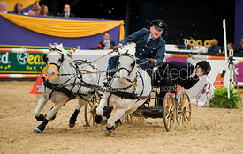 Richard Griffiths and Titch and the Talisman, Horse of the Year Show 2010