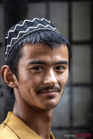 Portrait of young uyghur man, Xinjiang, China