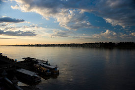 Sunset on the Mekong river at Nong Khai