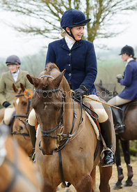 Sophie Osborne at the meet - The Cottesmore Hunt at Newbold 18/2