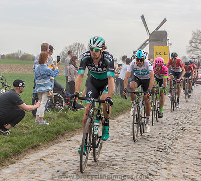 The Cyclist Gianni Moscon - Paris-Roubaix 2018