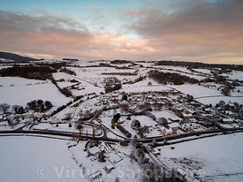 Buildwas Village snow