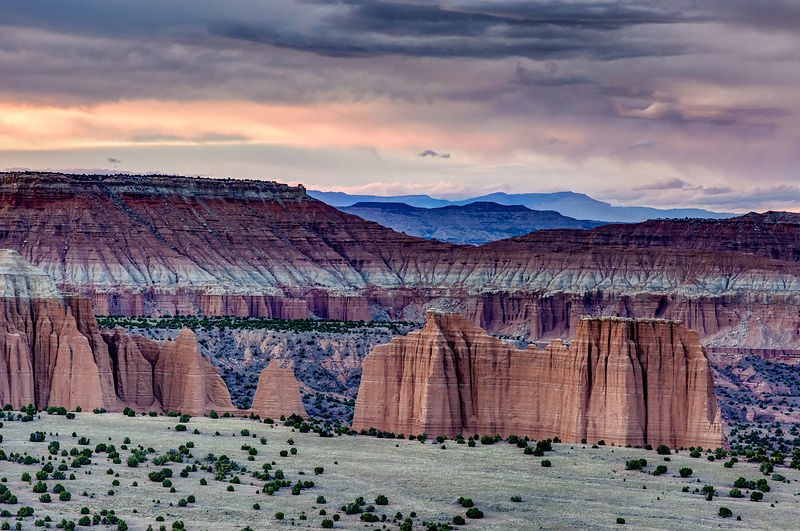 Cathedral Valley Sunset