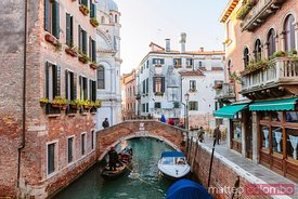 Typical gondola in Venice, Veneto, Italy